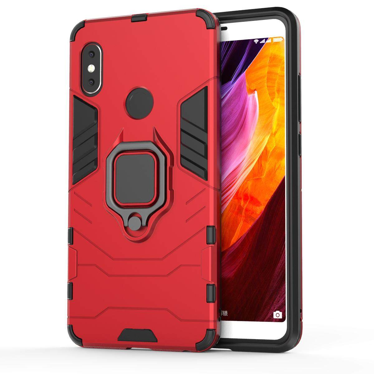 Detail Gambar TPU + PC Hybrid Case with Finger Ring Kickstand for Xiaomi Redmi Note 5 Pro (Dual Camera) / Xiaomi Redmi Note 5 (China) Terbaru