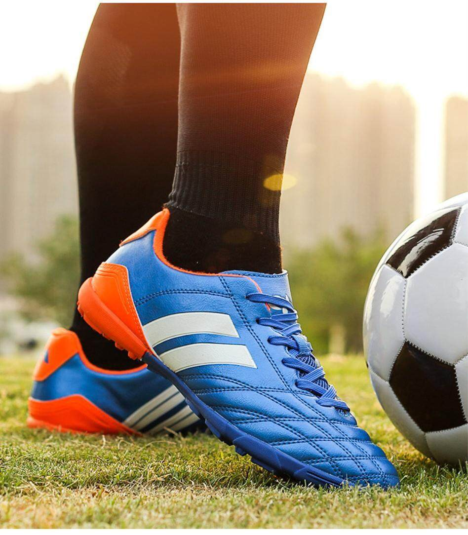 (ต่ำสุดราคา) 2016 ใหม่ชายกลางแจ้งในร่มผู้หญิงทนต่อการสึกหรอป้องกันการลื่นไถลระบายอากาศหญ้าเล็บหักรองเท้าฝึกเล่นฟุตบอล - Intl By The Digital Store.