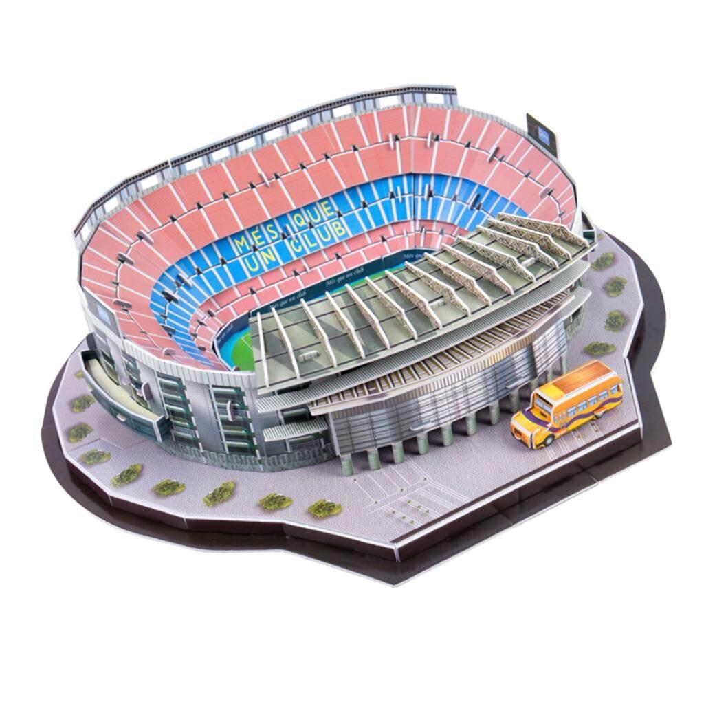 BolehDeals 3D Puzzle Different Countries Football Field Model Camp Nou stadium