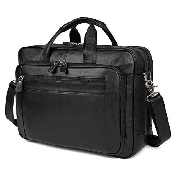 Polare 17 Mens Napa Leather Laptop Briefcase Messenger Bag Business Toteship from USA - intl