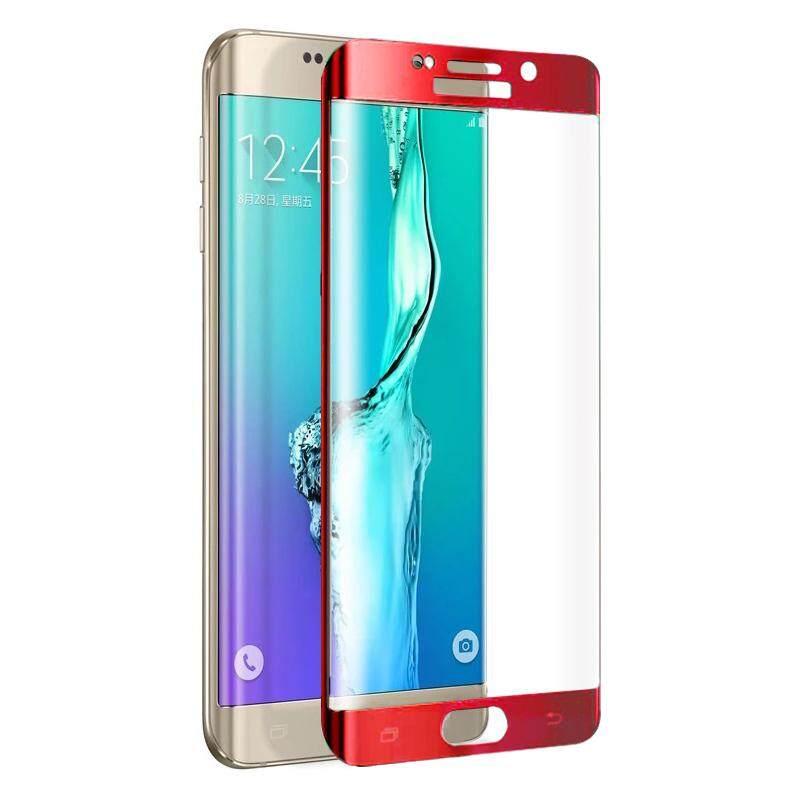 FEMA Berlapis Penuh Ukuran Kaca Tempered Melengkung Layar Film Samsung Galaxy S6 Edge G925-Merah