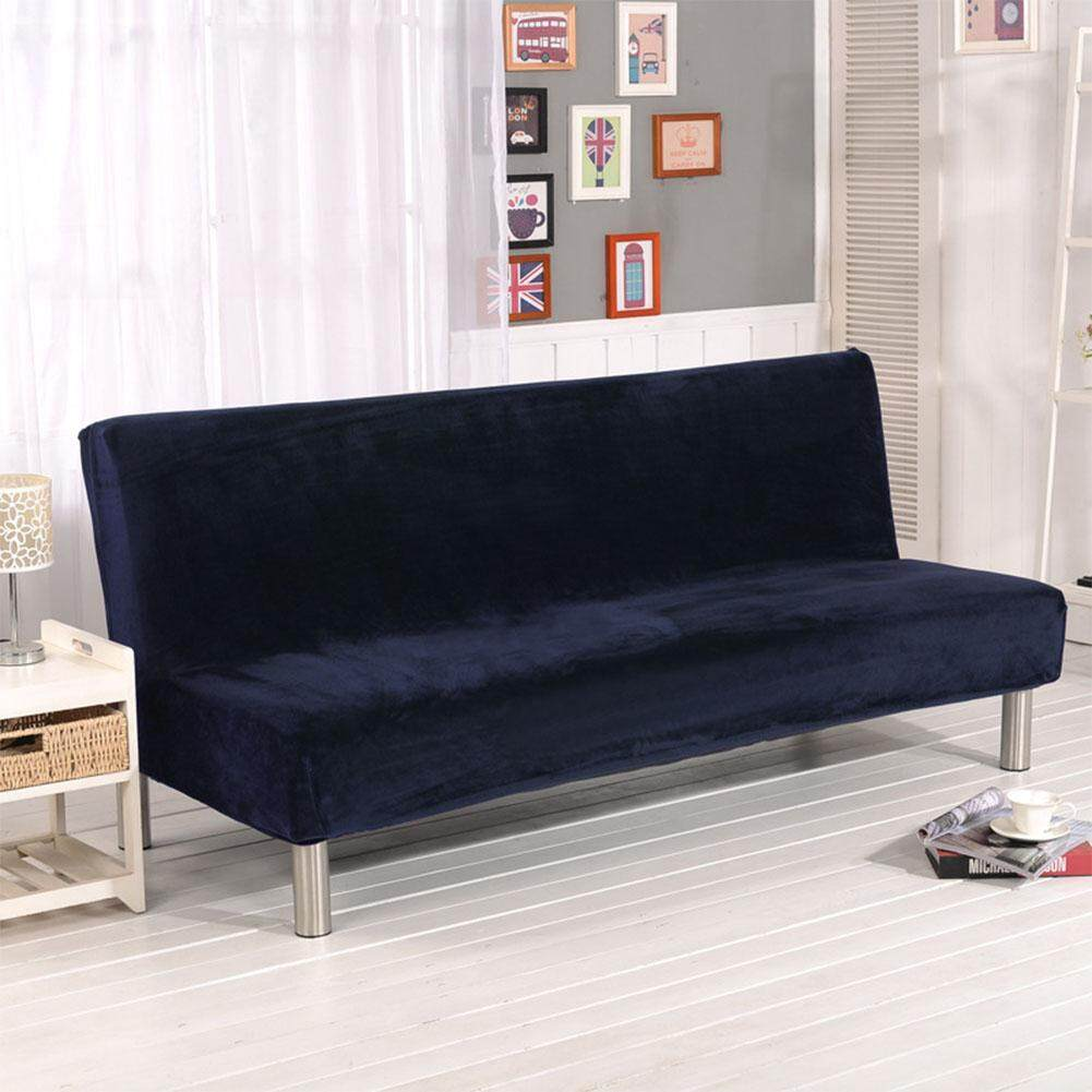 TZ Plush Fabric Fold Armless Sofa Bed Cover Folding Seat Slipcover Thicker Covers Bench Couch Protector