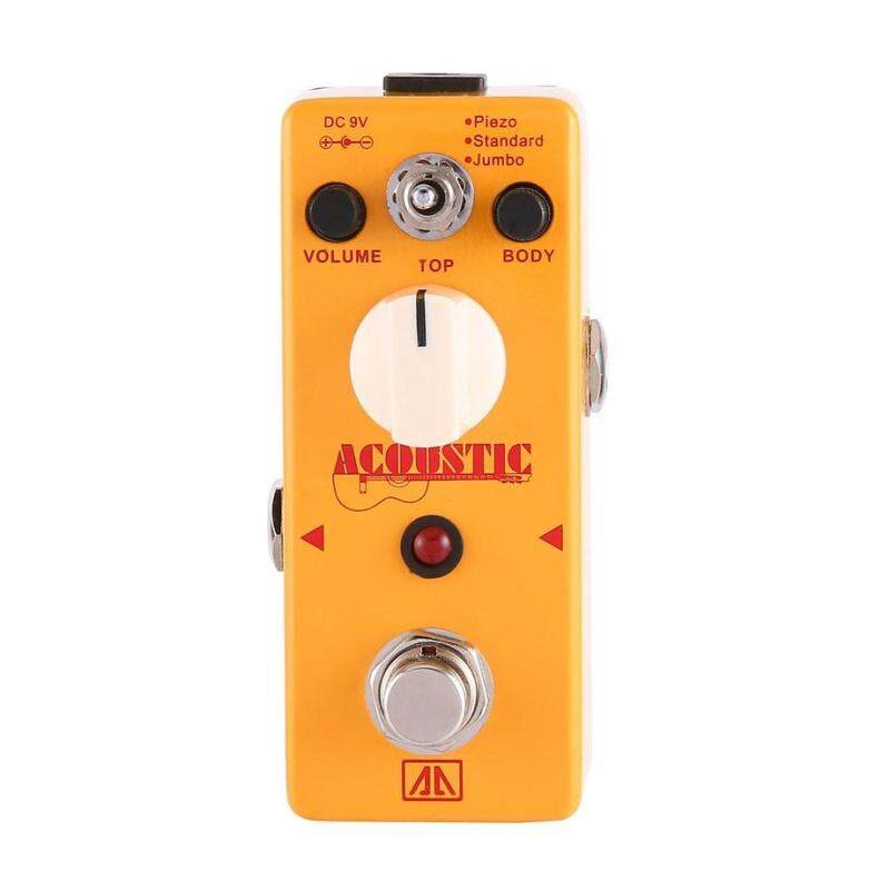 AROMA AAS-5 Acoustic Guitar Simulator Effect Pedal True Bypass Guitar Parts