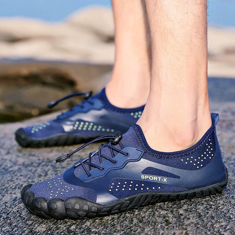 Rekreasi Baru Sepatu Renang Olahraga Air Luar Ruangan Sepatu Pantai Breathable Shoessummer Kulit Sepatu Pria Pasir