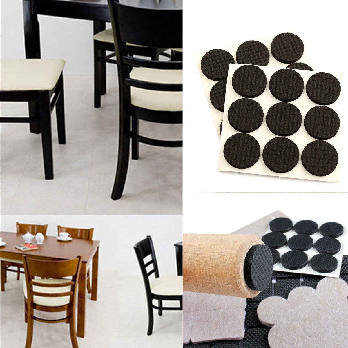 Product Details Of 18pcs Felt Floor Protector Pads For Tables Chair Legs