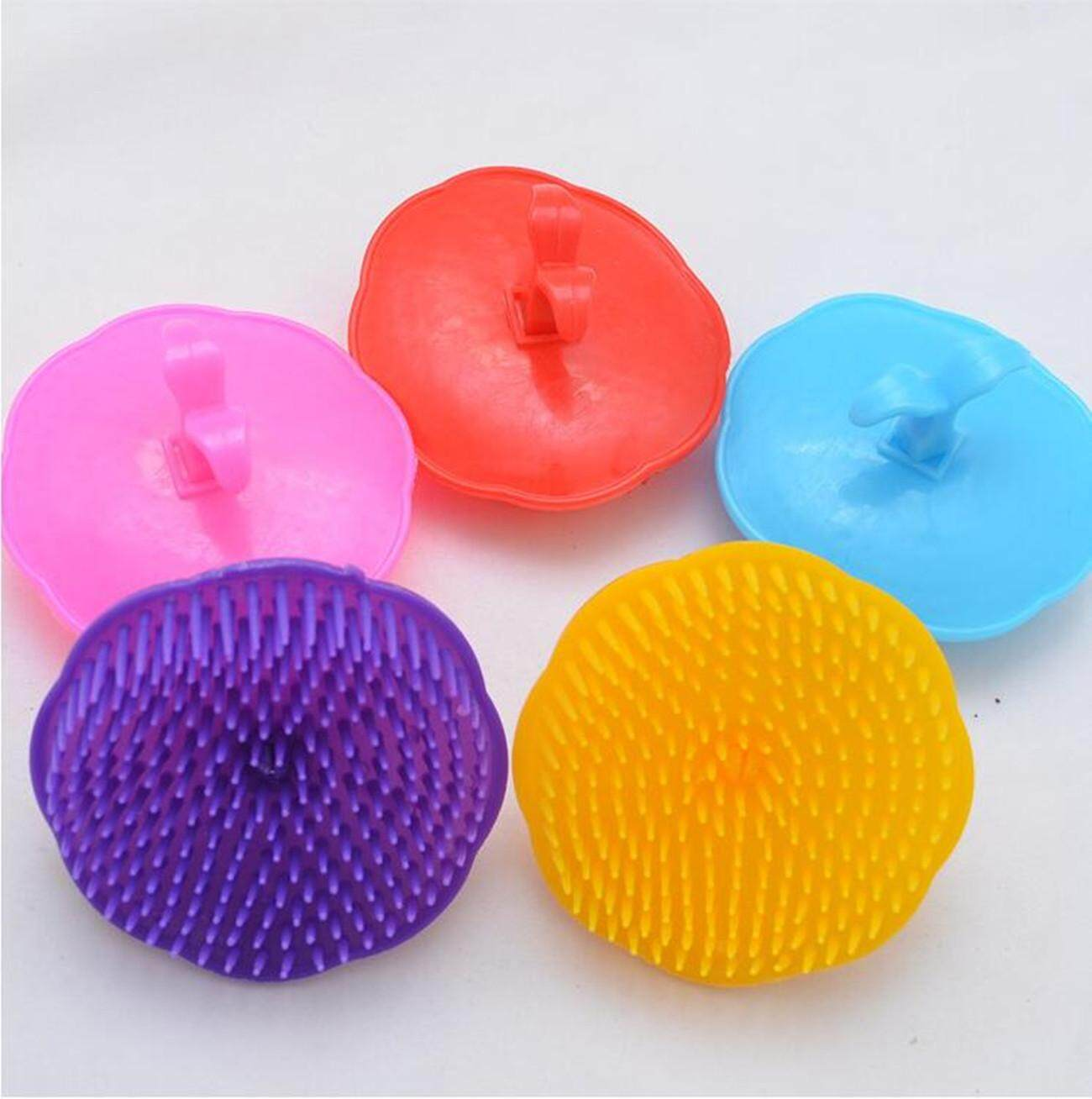 Topmissdeng 5pcs/lot Hair Massager Comb Scalp Shampoo Washing Hair Massage Brush Shower Body Random