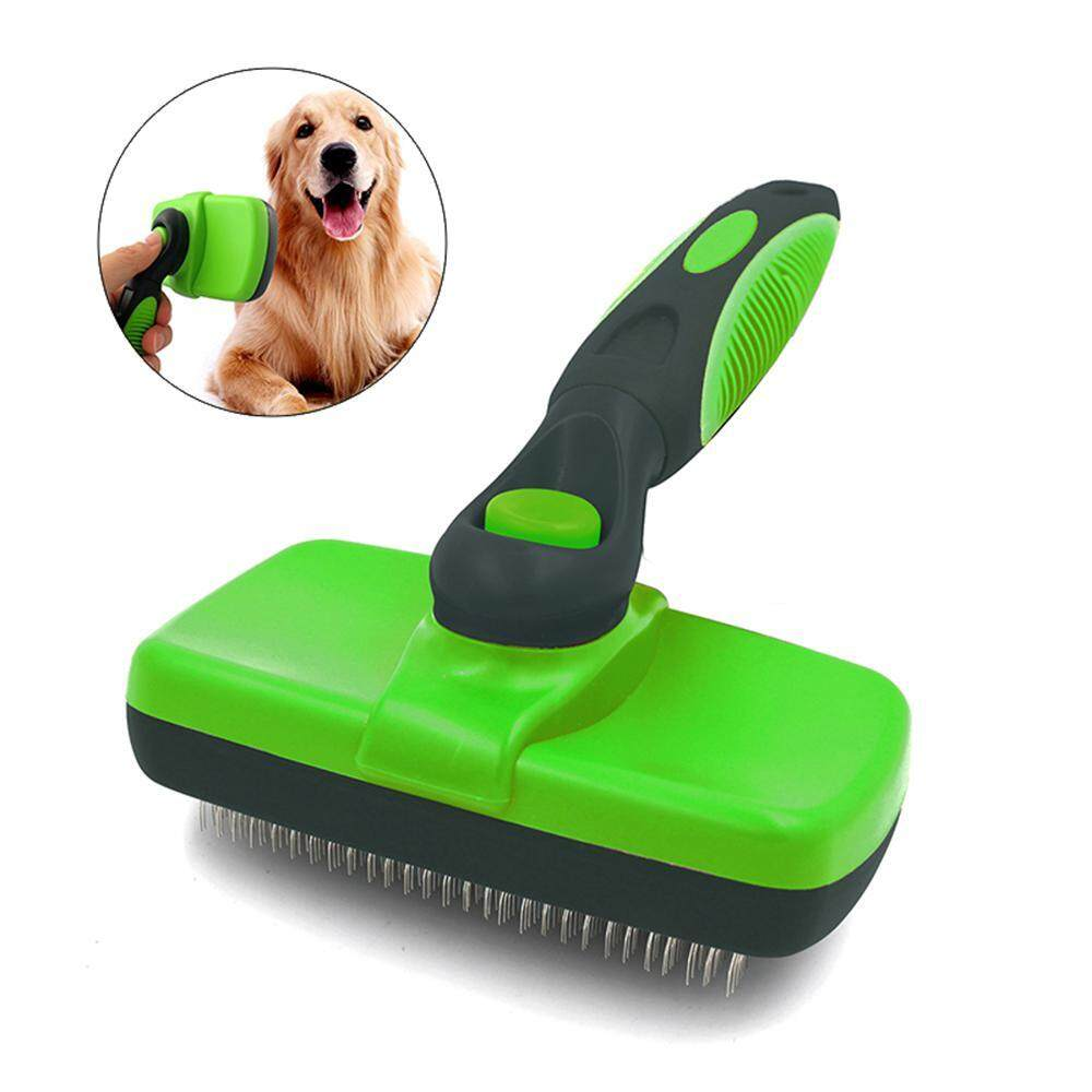 Niceeshop Pet Slicker Brush Self Cleaning. Deshedding Tool, Grooming Brush Large And Small Dogs And Cats By Nicee Shop.