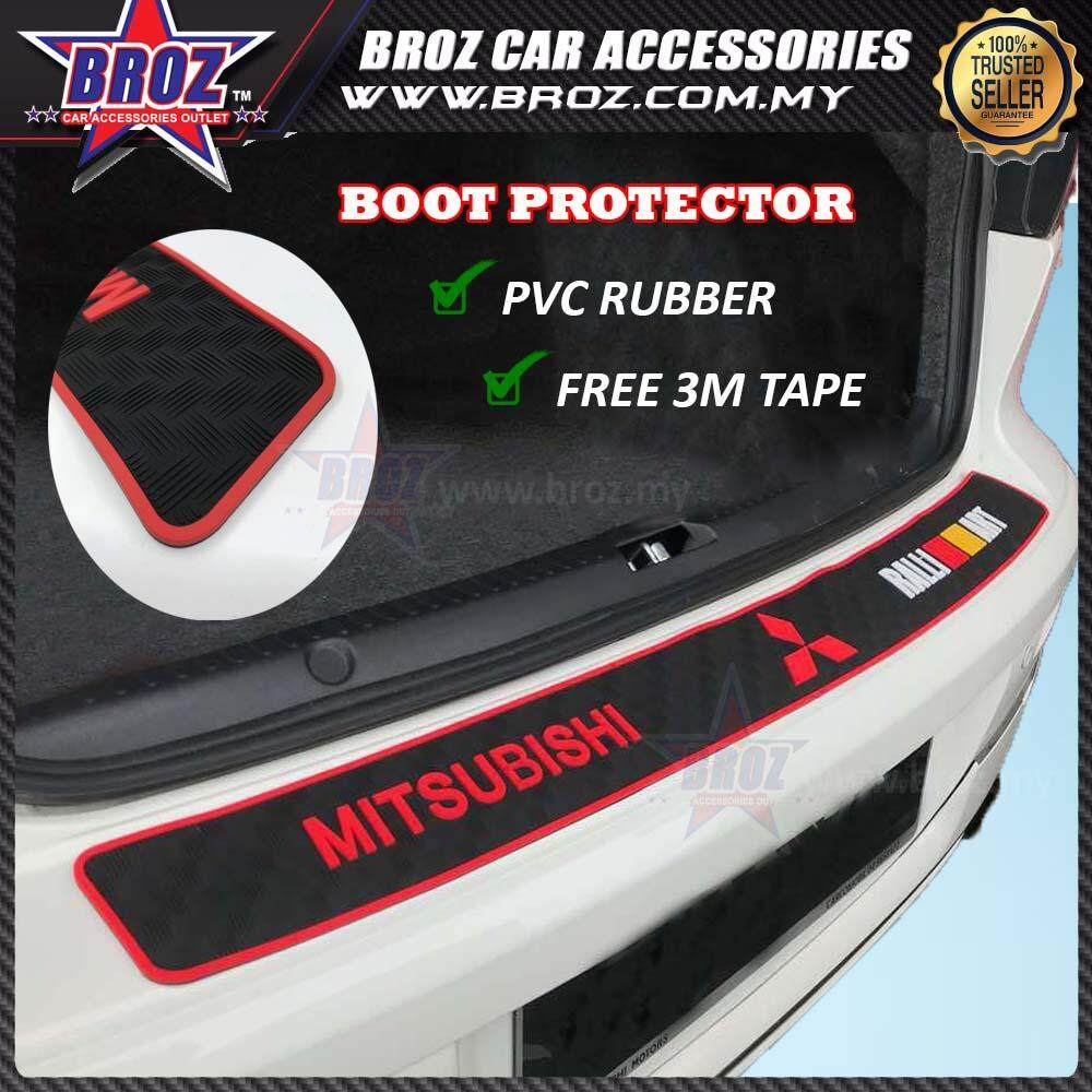 Universal Mitsubishi Rear Bumper Protector Rubber Strip Shock Absorption