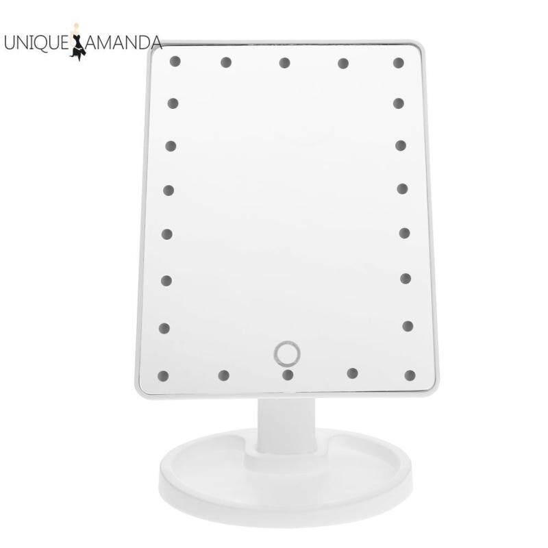 LED Touch Screen Makeup Mirror Square Vanity Mirror Princess Wedding Tools
