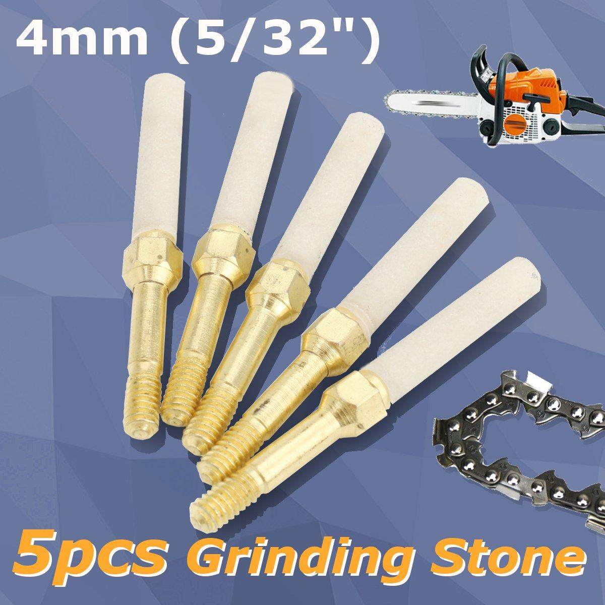 5pcs 5/32 Diamond Chainsaw Sharpener Burr Stone File for 12V Chainsaw Ginders