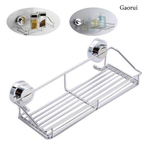 Stainless Steel Kitchen Bathroom Shower Shelf Storage Suction Basket Caddy Rack By Glimmer.