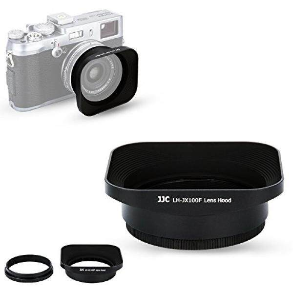 JJC Reversible Metal Lens Hood for Fuji Fujifilm FinePix X100F, X100T, X100S, X100 Digital Camera, Black Color, with a 49mm Filter Thread Adapter Ring - intl