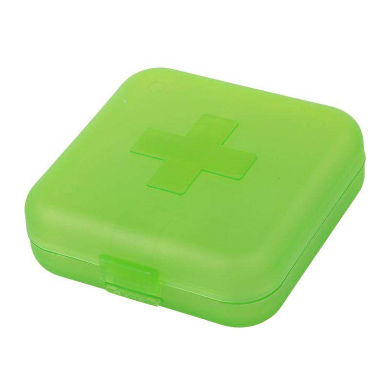 Cross Tablet Pill Boxes Holder Medicine Storage Organizer Container  Case(Green)