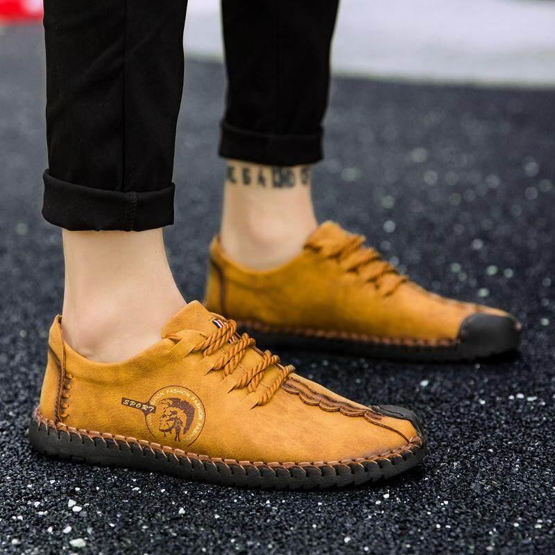 Yealon Sepatu Kulit Sepatu Kulit untuk Pria Kasual Sepatu Kulit untuk Pria Sepatu Kulit Sapi untuk Pria Sepatu Gaya Kasual Pria Kulit Datar Sepatu untuk Pria pria Flat Lembut Sepatu Kulit - 3