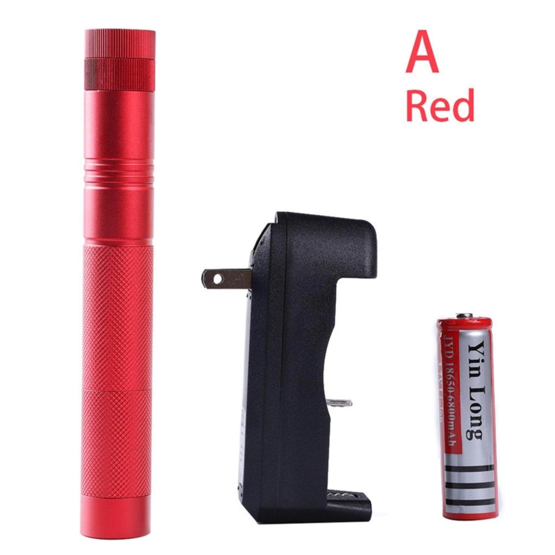 10Miles 532nm 303 Green Laser Pointer Lazer Pen Visible Beam Light+18650+Charger New Red A