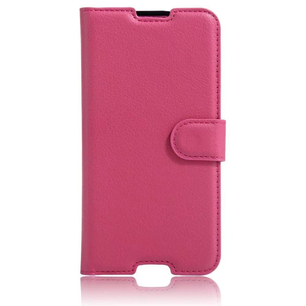 Leather Flip Cover Wallet Card Holder Case For Alcatel idol 4 / BlackBerry DTEK50 - intl