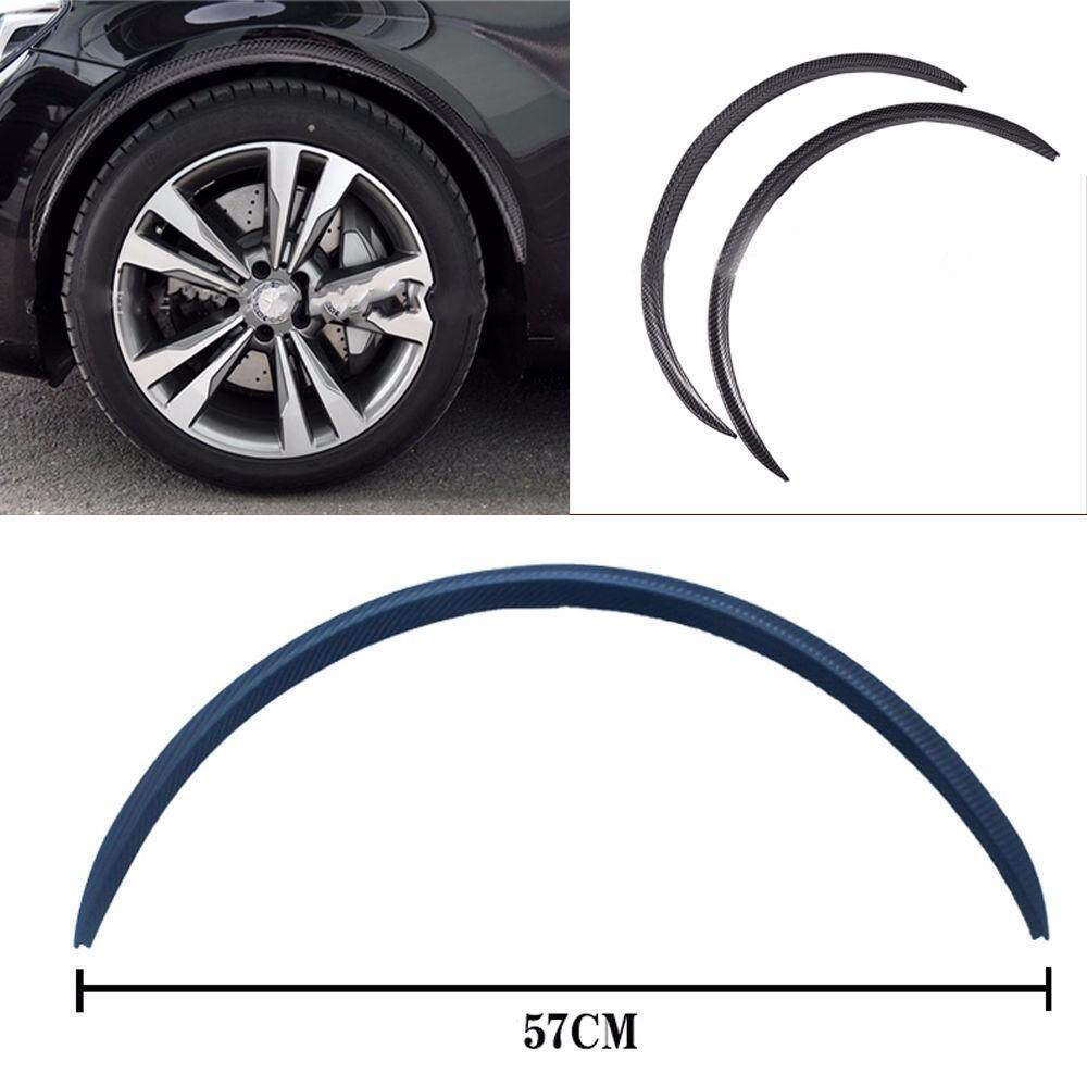 Car Auto Fender Wheel Eyebrow Protector Sticker Black Carbon Fiber Rubber Strip By Audew.