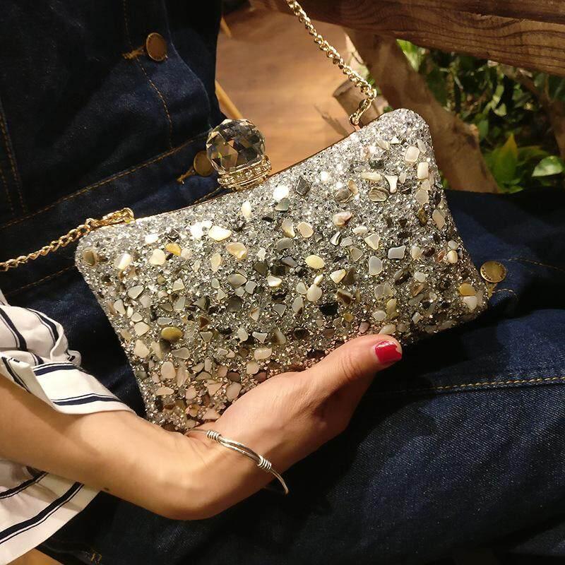 Women Fashion Bags Clutches Wallet Rhinestones Glittering Cosmetic Bag Dinner Party Wedding Bag