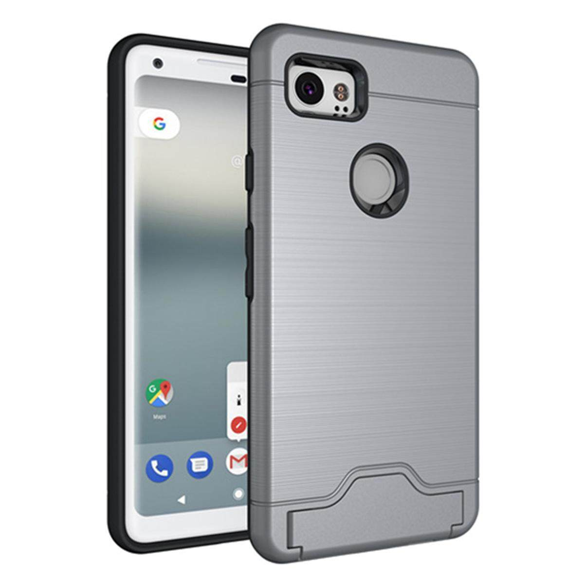 Hình ảnh for Google Pixel 2 XL Case [Hidden Card Slot] Hard PC + TPU Hybrid Back Armor Case Cover, with Cryptic Card Storage Slot, Skidproof, Minimalist - intl