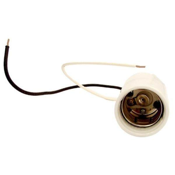 Leviton 8756-2 Mogul Base, One-Piece, Keyless, HID, Glazed Porcelain Lampholder, HPS up to 400W, Single Circuit, Back Wired, 4KV-Pulse Rated, White - intl