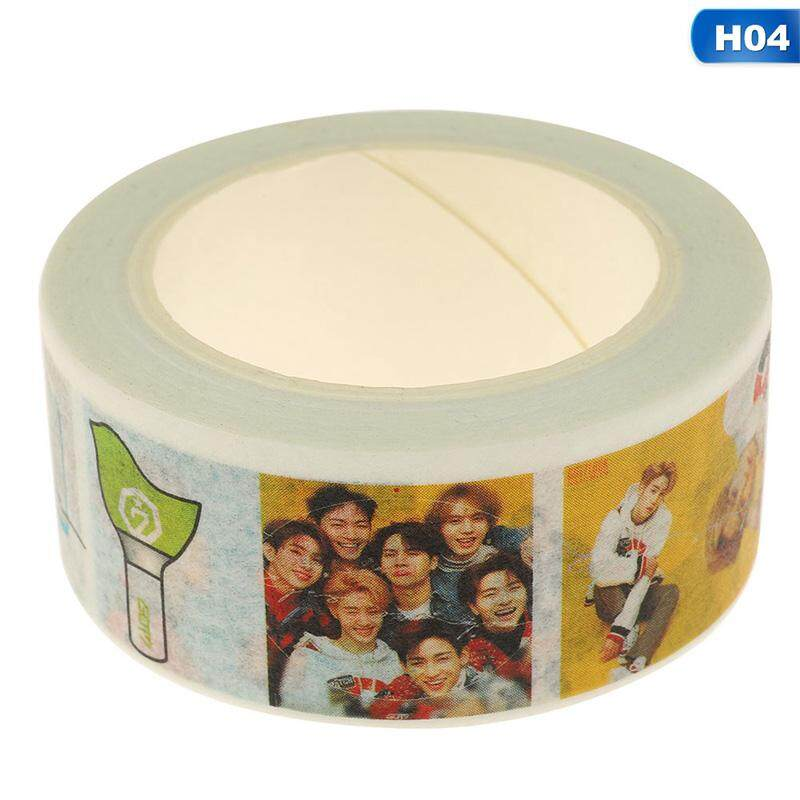 Bzy New Kpop Bts Wanna One Got7 Washi Tape Paper Maksing Diy Scrapbook Stickers H04 By Beautyzy.