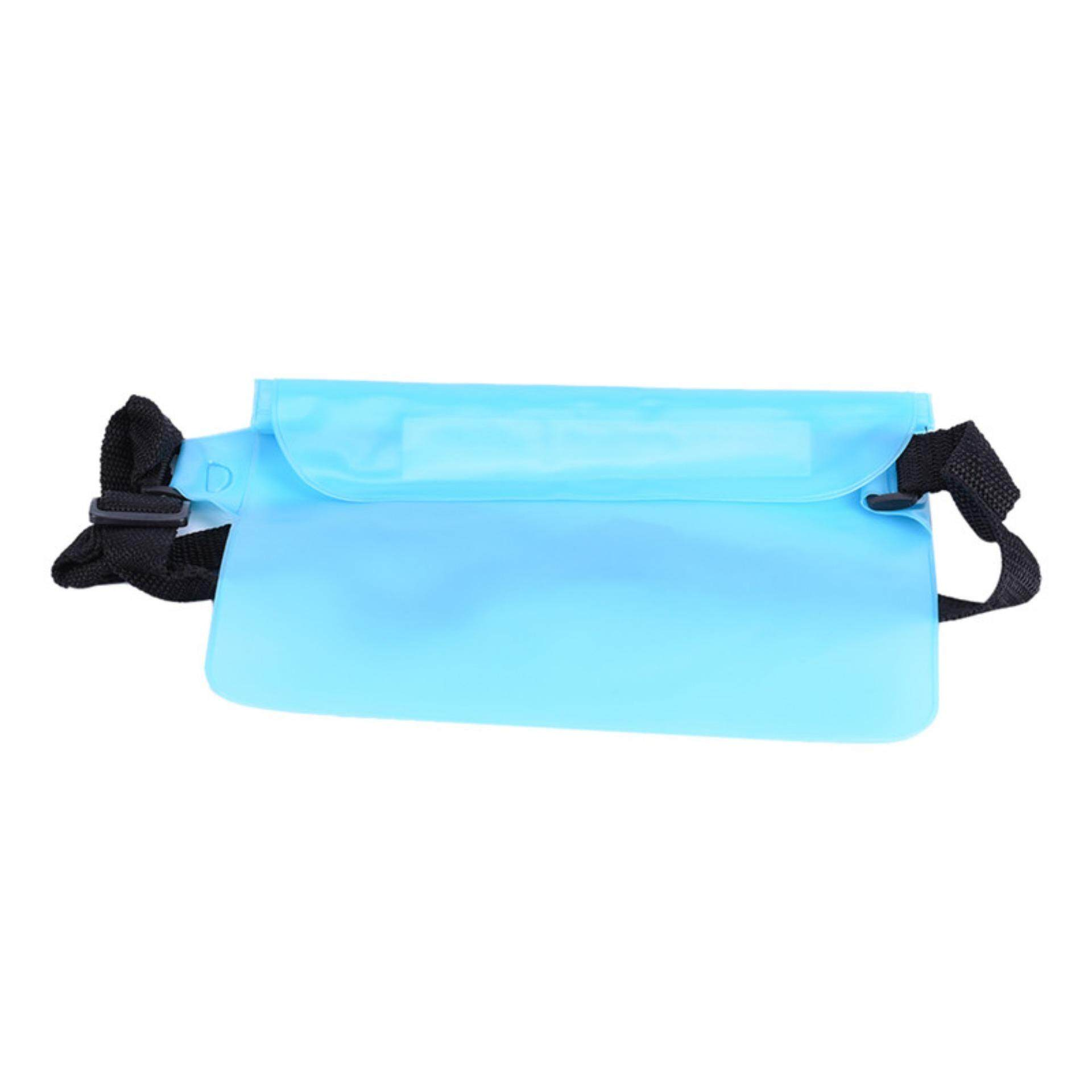 Hình ảnh Rainproof Waterproof Sports Underwater Bag Swim Beach Dry Pouch Waist Light Blue - intl