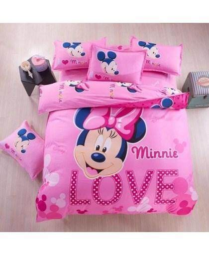 CARTOON BED SHEET MINNIE 2 DESIGN (FITTED) KING SIZE