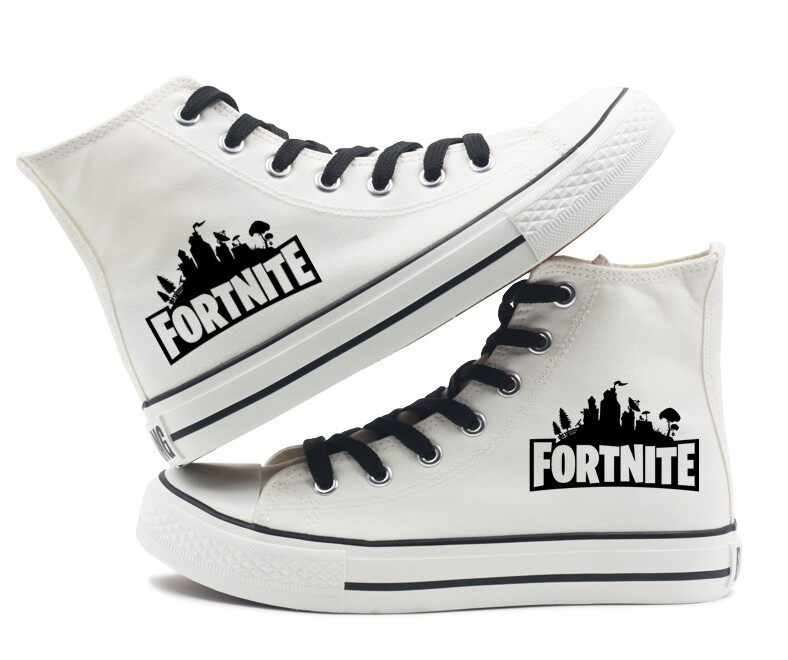 f013a8840094 Top Quality Unisex Fortnite Battle Royale canvas Shoes High top ...