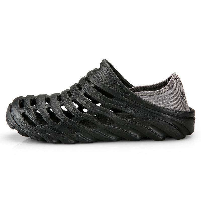 0f7a63bd0 2018 Men Sandals Summer Slippers Shoes Croc Fashion Beach Sandals Casual  Flat Slip on Flip Flops