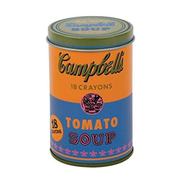 Mudpuppy - Andy Warhol - Set of Crayons - Campbells Soup Can (1965) - Orange and Blue - intl