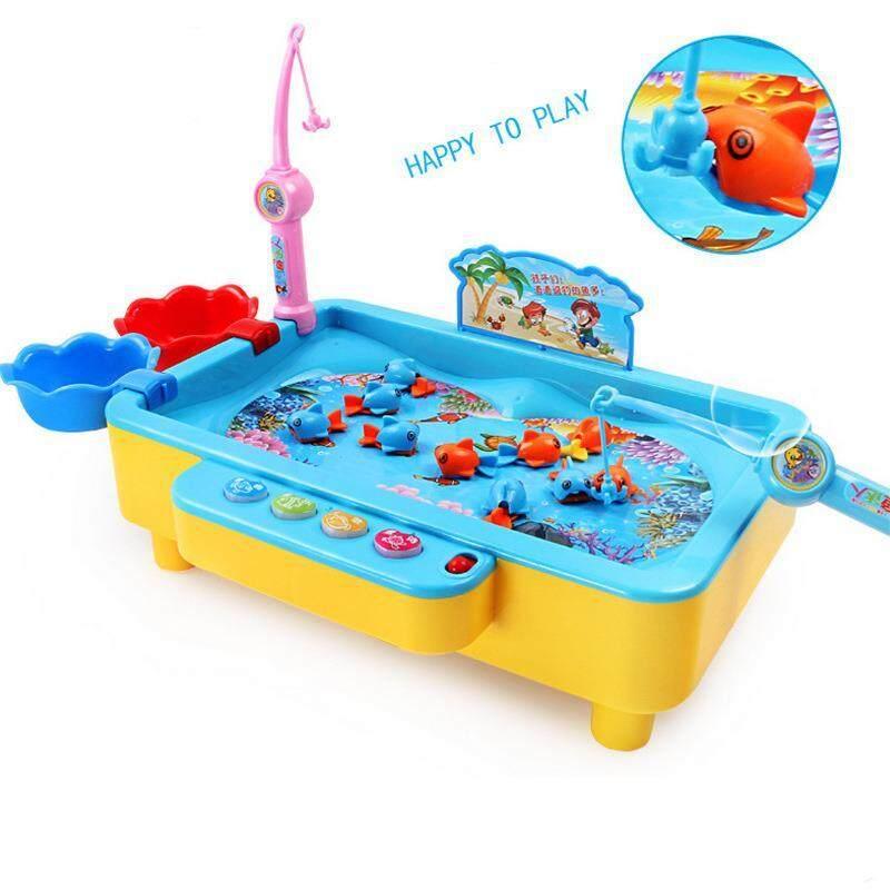 Mainan Anak-anak Puzzle Rotasi Elektrik Magnetik Meja Pancing Mainan Anak