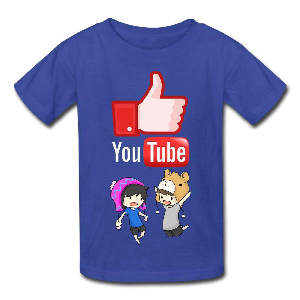 Yonth Anak-anak YouTube dan Howell dan Phil Lester T-shirt Fashion Baru Olahraga Remaja Top-Intl