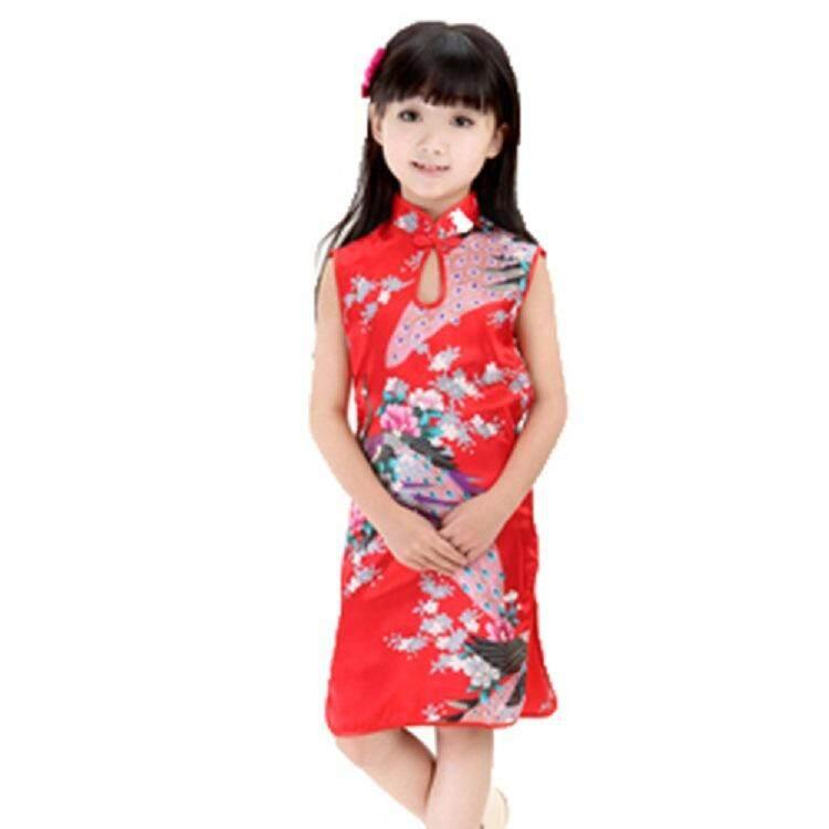New Chinese Retro Kid Child Girl Baby Cheongsam Dress Qipao Clothes