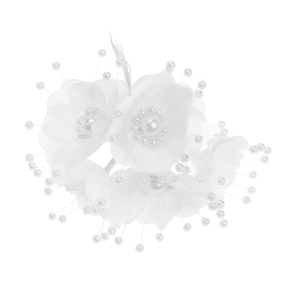 12pcs Artificial Pearl Flowers DIY Wreath Decor Wedding Bridal Fake Flower