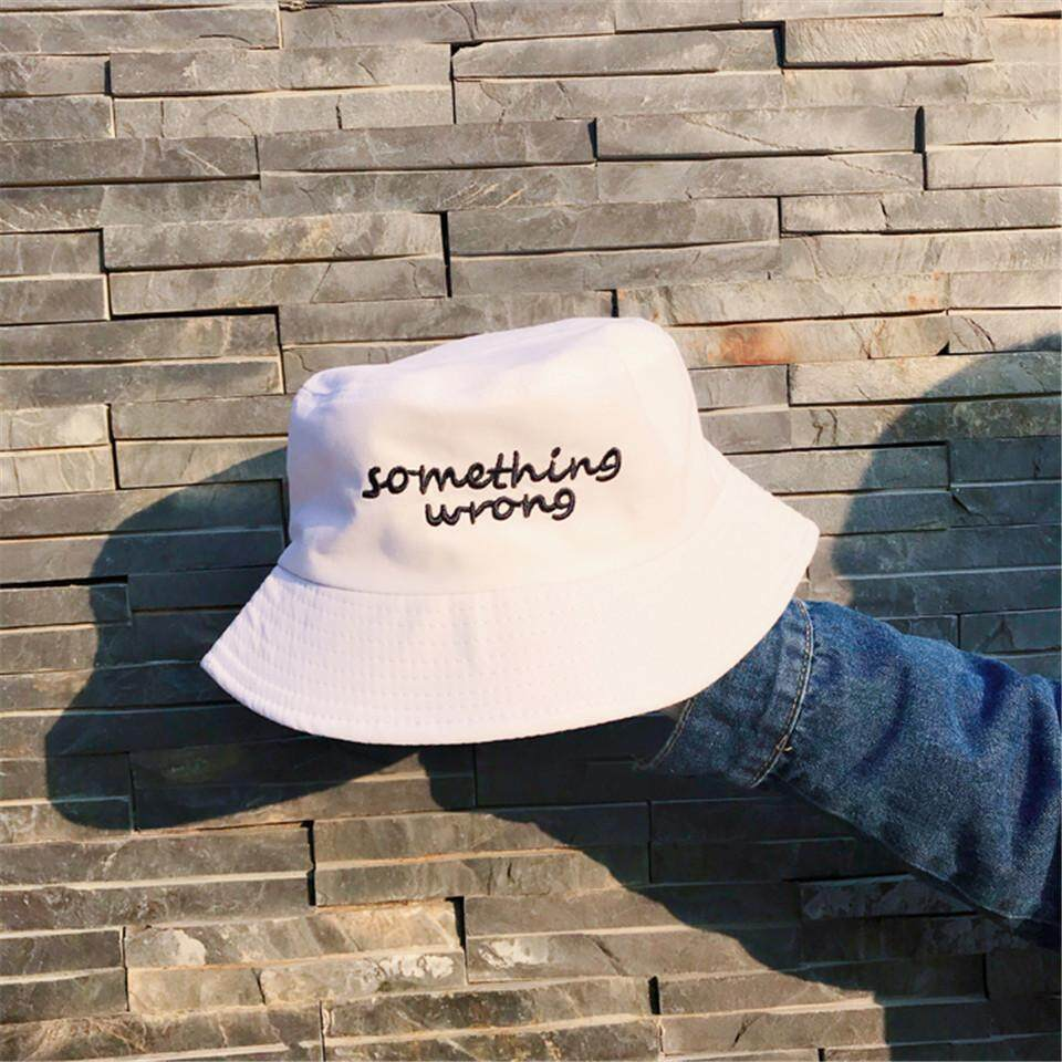 625ae8b151176f Letter embroidered fisherman hat men and women summer Korean version of the  wild student sun hat