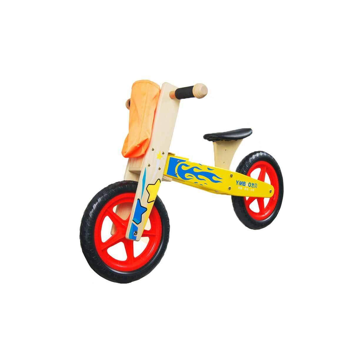 Wooden Kids Balance Bike Ride On Toy Push Bicycle Trainer Outdoor Pushing Bike