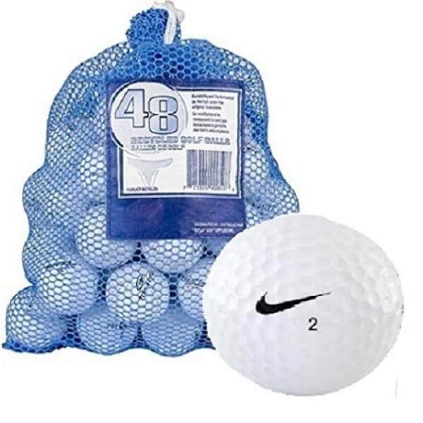 Nike Nike Satu 48 + Tas Bola dengan Campuran Putih Daur Ulang Bola Golf, Putih-Intl