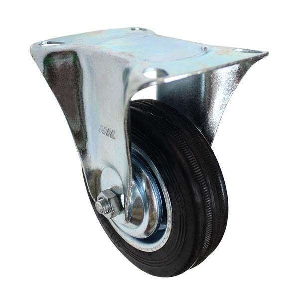 INDUSTRIAL RIGID TYPE RUBBER CASTER (MADE IN TAIWAN)