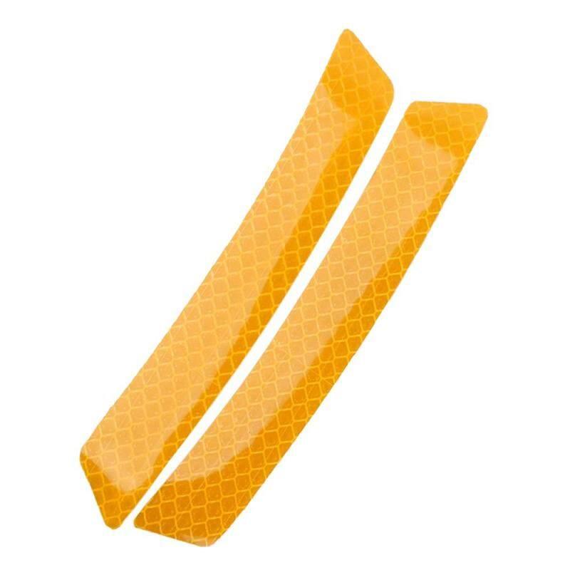 2 cái Phản Quang Cảnh Báo Dây Dán Bánh Xe cho Lông Mày An Toàn Cảnh Báo Phản Quang Miếng Dán Bảo Vệ Màn Chống va chạm Miếng Dán vàng
