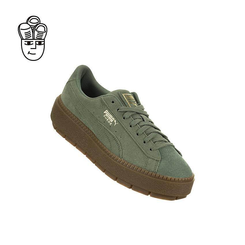 Puma Suede Platform Trace Velour Lifestyle Shoes Big Kids 36669602 -SH