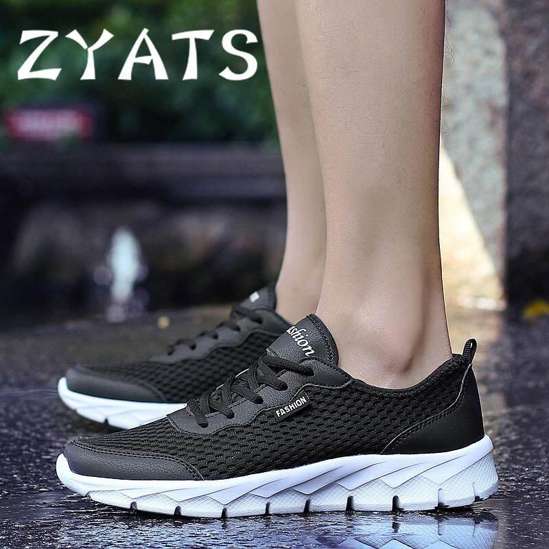 Detail Gambar Zyats 2018 Sepatu Olahraga Pria dan Wanita Sepatu Lari  Beberapa Model Bernapas Sepatu Jalan cff2309fc2