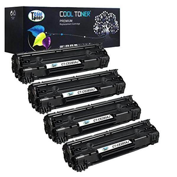 Cool Toner Cool Toner 4 Pack 2,500 Pages High Yield Black Compatible 85A CE285A CE285X CE285 Toner Cartridge For LaserJet Pro P1102W P1102 P1100 M1212NF MFP M1217NFW MFP MF3010 M1210 M1132 Printer - intl