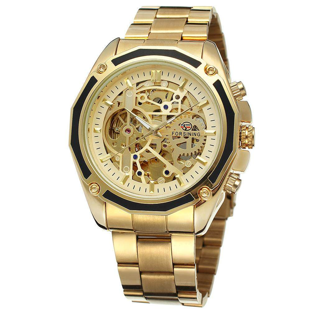 Forsining Hollow Automatic Mechanical Skeleton Watches Top Luxury Brand  Business Fashion Stainless Steel Design Unisex Mens 7f6e9051a60