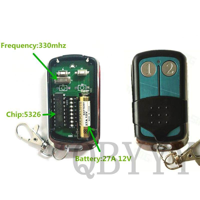 1PCS High Quality 5326 330mhz Autogate Replacement Dip Switch Remote Control Keyfob for Singapore Malaysia