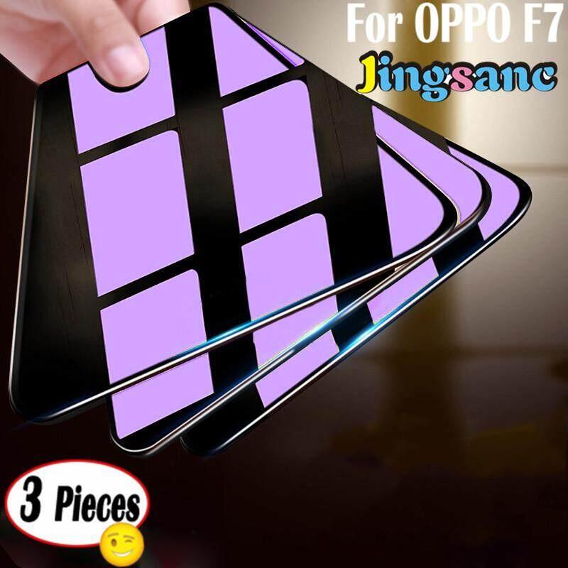 3 Pieces untuk OPPO F7 Anti Bluelight Melindungi Mata Lembut Tepi 3D Perlindungan Menyeluruh Melindungi Kaca Antigores Layar Pelindung Film UNTUK OPPO F7- internasional