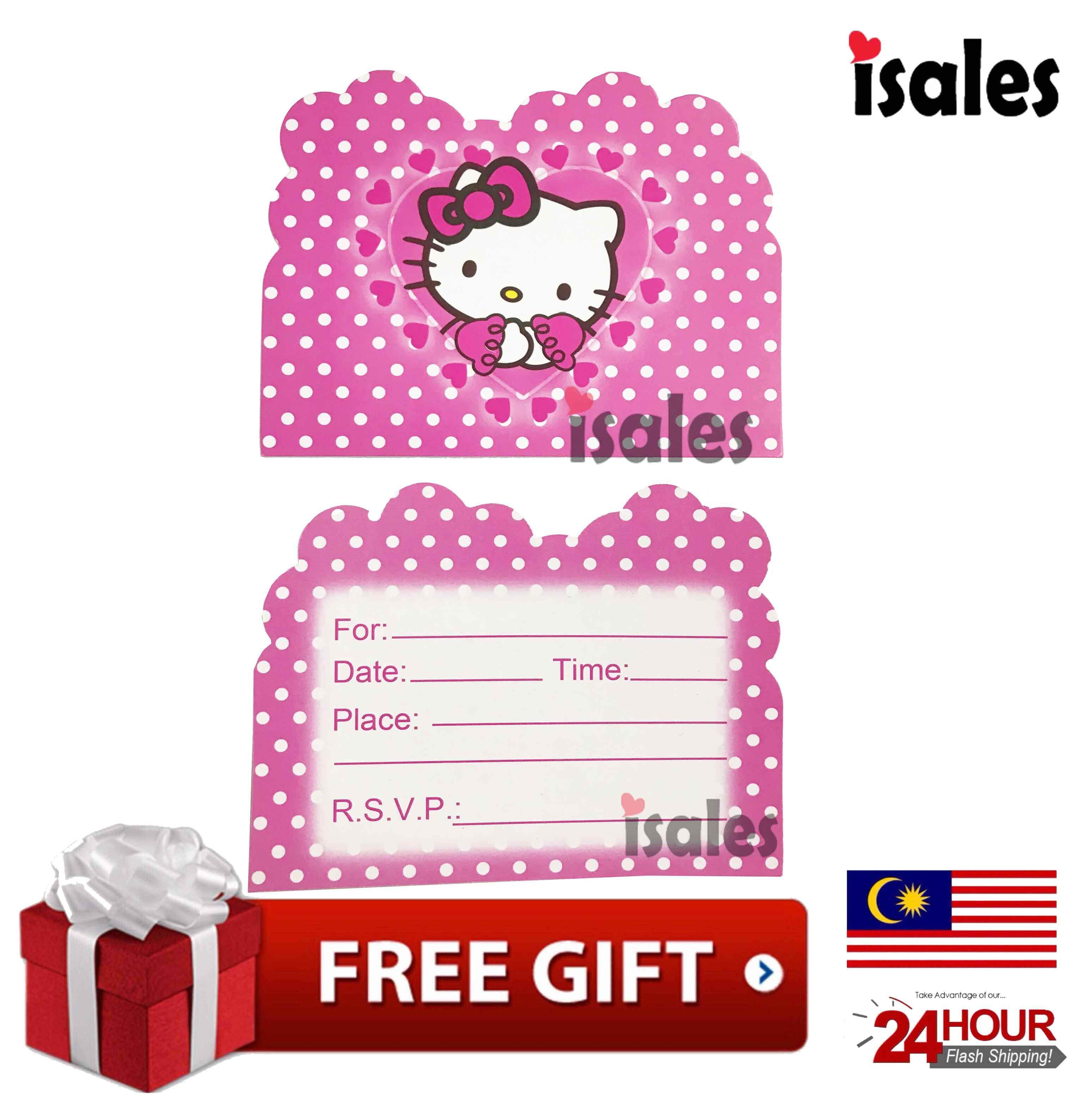 Hello Kitty Buy At Best Price In Malaysia Lazada A Cutting Stiker Label Nama Bulat Ready Stock Isales Birthday Party Theme Invitation Card