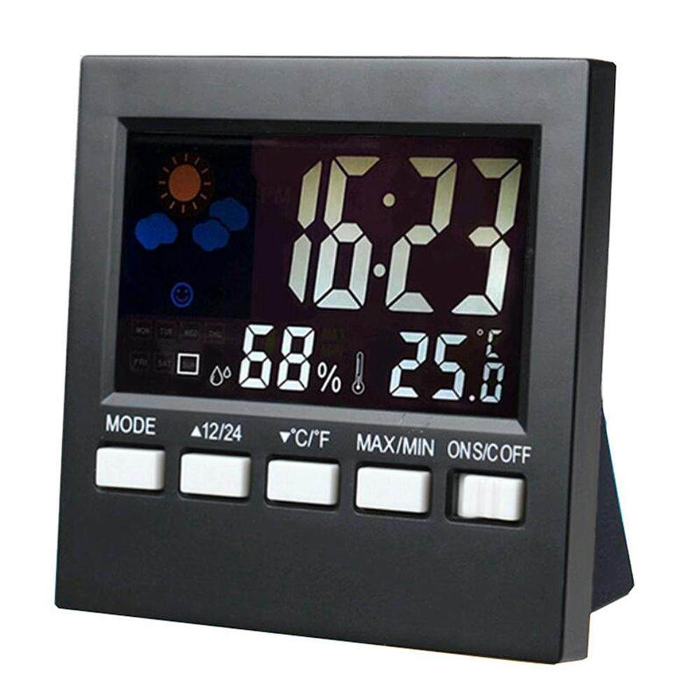 New weather station alarm clock color thermometer electronic clock