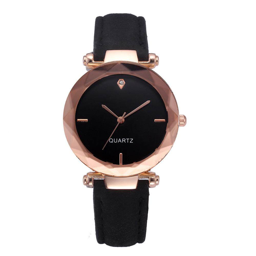 ... Fashion Women Leather Casual Watch Luxury Analog Quartz Crystal Wristwatch - 3
