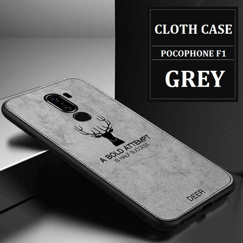 Luxuy Brand Cloth Texture Case Deer Soft Cases for Pocophone F1 Cloth Casing Elk Back Cover for Xiaomi Pocophone F1 Housing