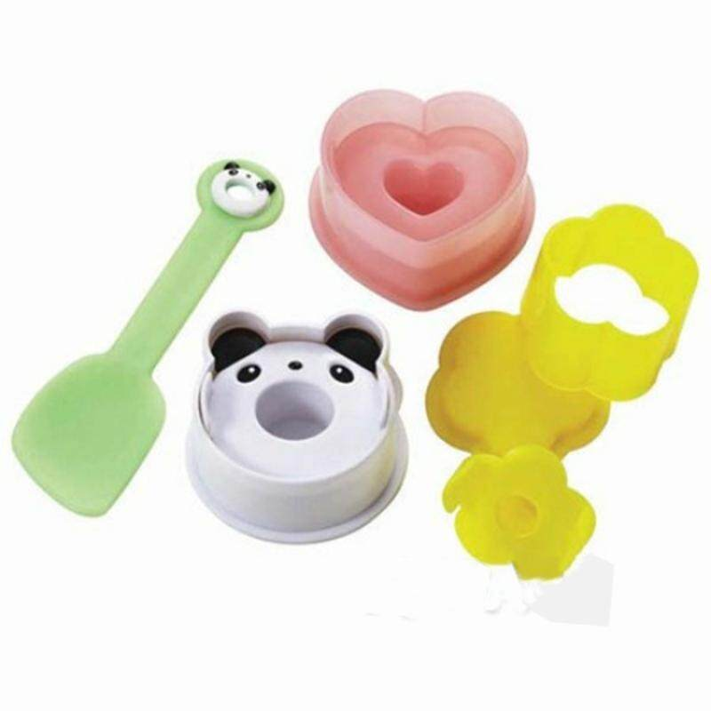 Rice Balls Sushi Cute Panda Small Flower Peach Heart Sandwich Rice Table With A Small Shovel Mold Combination Of Four Sets By Glimmer.